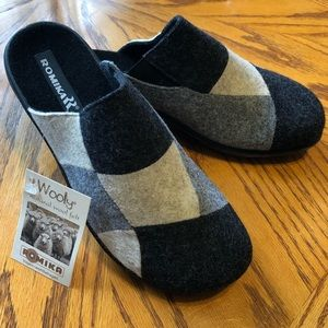 Romika Natural Wool and Felt Clogs